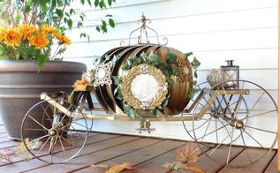 cinderella pumpkin carriage, diy, outdoor living, repurposing upcycling