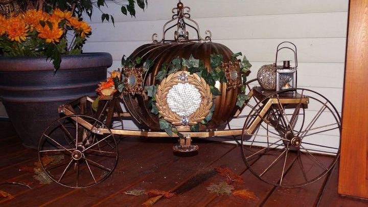 cinderella pumpkin carriage, diy, outdoor living, repurposing upcycling