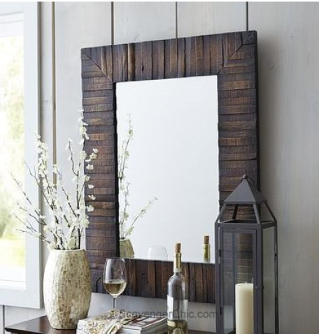 pier 1 copycat mirror diy, diy, pallet, repurposing upcycling, wall decor, woodworking projects