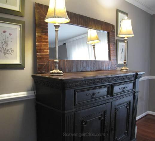 pier 1 copycat mirror diy, diy, pallet, repurposing upcycling, wall decor, woodworking projects
