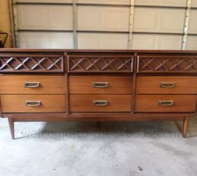 Charming Mid Century Modern Dresser Redo, Painted Furniture