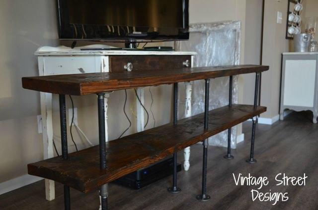 diy metal pipe entertainment center, diy, painted furniture, repurposing upcycling