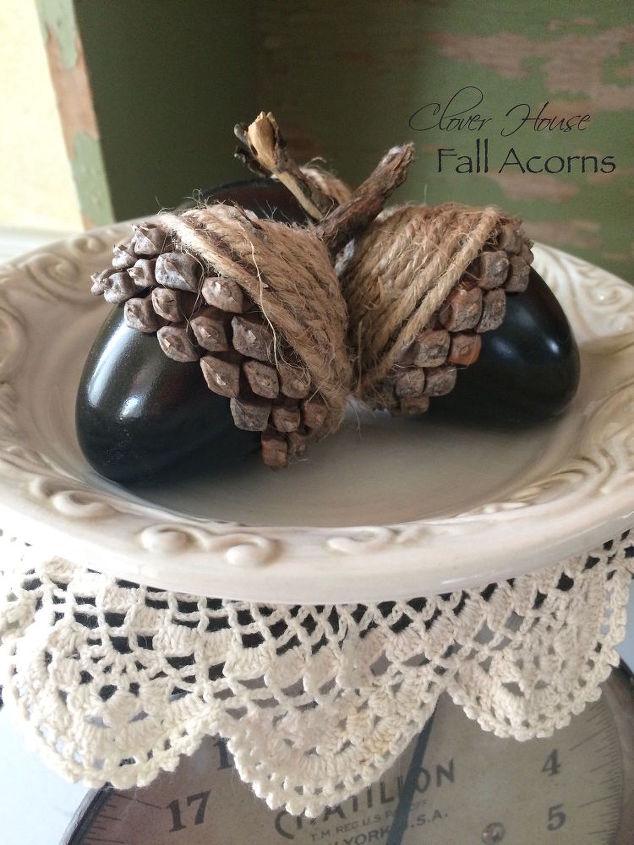 diy fall acorns using plasinc eggs, crafts, repurposing upcycling, seasonal holiday decor