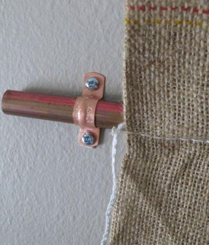 diy copper and burlap wall art, crafts, wall decor