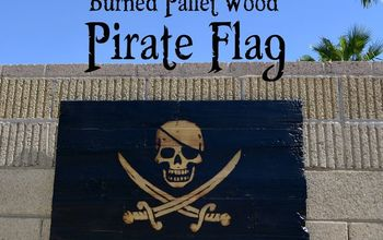 Making a Torch-Burned, Pallet-Wood Pirate Flag