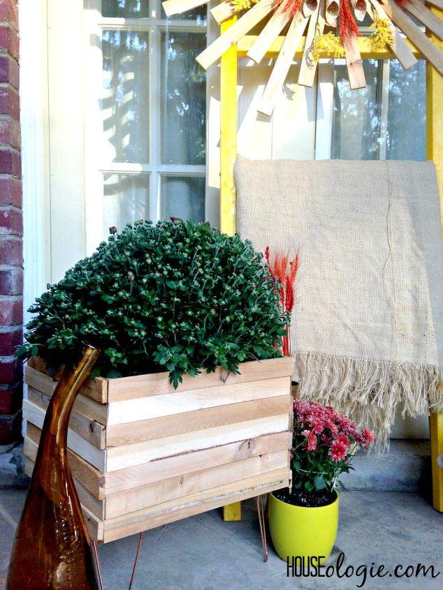 diy copper wood planter, container gardening, crafts, gardening
