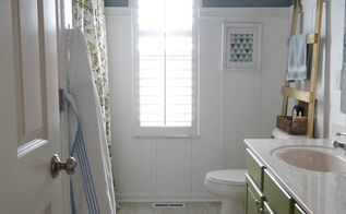kids guest bathroom makeover on a budget, bathroom ideas