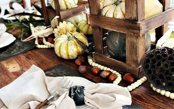 fall tablescape neutral and natural, crafts, home decor, seasonal holiday decor