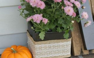 fall flower pots, container gardening, crafts, gardening
