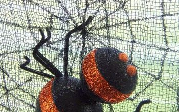 styrofoam halloween spider, crafts, halloween decorations, seasonal holiday decor