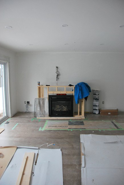 The Living Room: A Fireplace Built-In | Hometalk