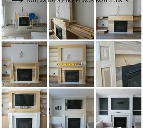 The Living Room A Fireplace BuiltIn Hometalk