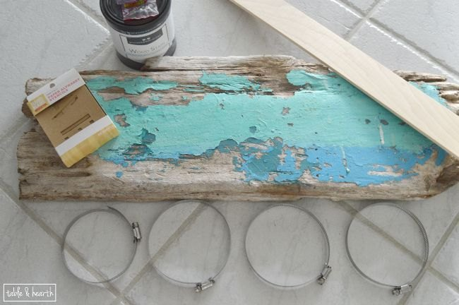 driftwood beach towel holder, crafts, outdoor living