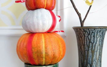 How to Make a Stacked Pumpkin Decoration