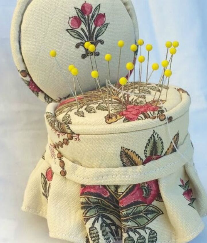 s 11 upcycles so simple you ll wonder why you ve never thought of them, crafts, repurposing upcycling, Turn a Tuna Can into a Cute Pin Cushion