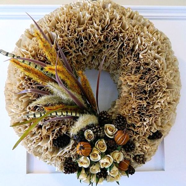 s 15 brilliant ways to use all of your coffee leftovers, cleaning tips, composting, container gardening, crafts, repurposing upcycling, Fall Filter Wreath