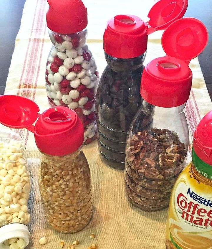 s 15 brilliant ways to use all of your coffee leftovers, cleaning tips, composting, container gardening, crafts, repurposing upcycling, Coffee Creamer Organization