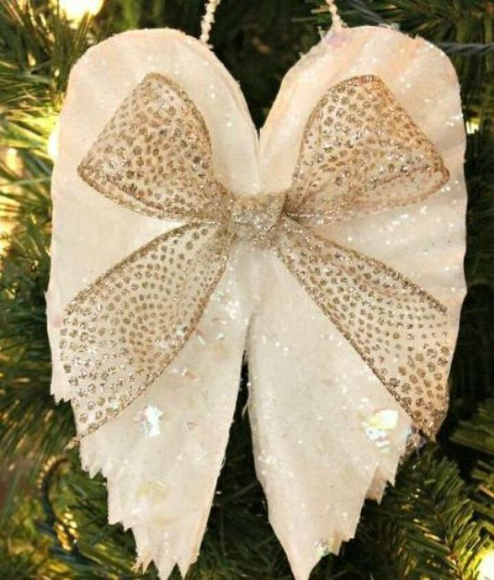 s 15 brilliant ways to use all of your coffee leftovers, cleaning tips, composting, container gardening, crafts, repurposing upcycling, Angel Wings Ornament