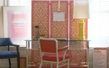 diy fabric folding screen, home decor, reupholster