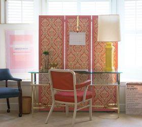diy fabric folding screen home decor reupholster