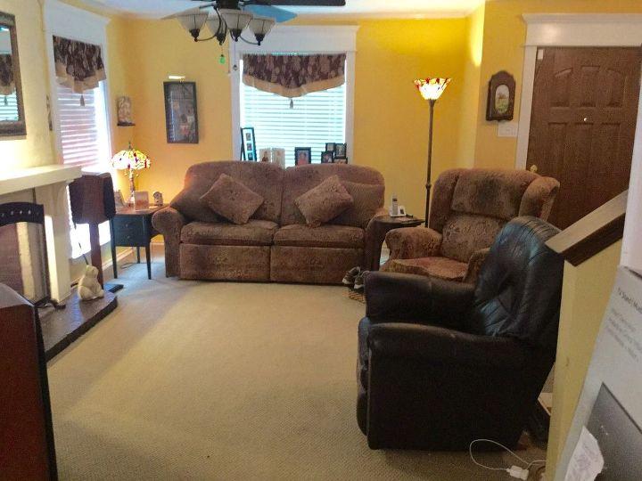 q moving entertainment center repainting decor changes, home decor, living room ideas