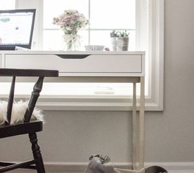Kate Spade Inspired Ikea Desk, Home Decor, Home Office, Painted Furniture