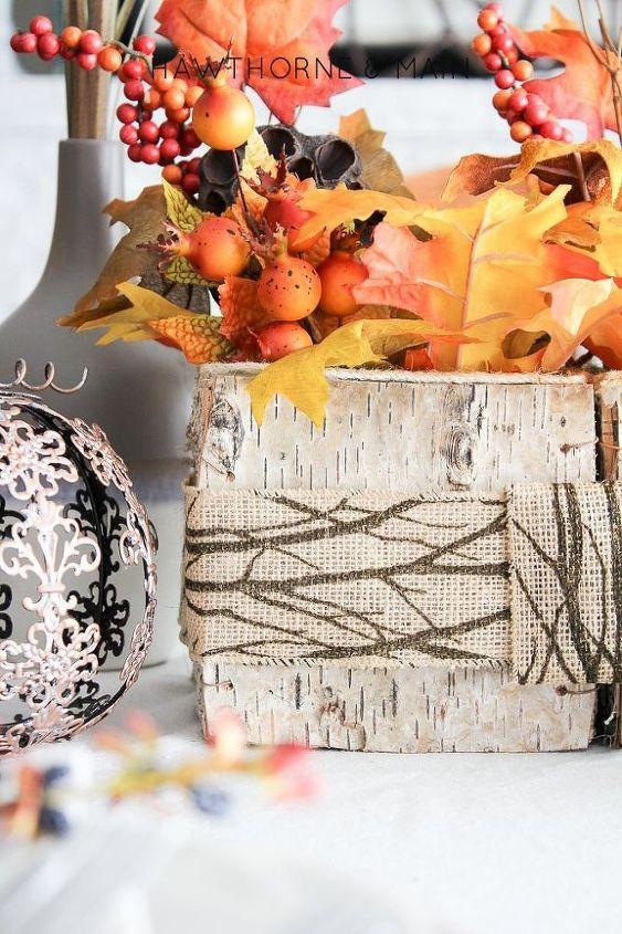 woodsy fall centerpiece, seasonal holiday decor