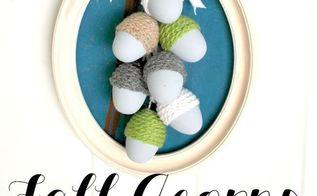 make fall acorns from plastic easter eggs, crafts, seasonal holiday decor
