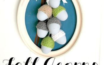 Make Fall Acorns From Plastic Easter Eggs