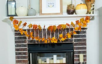 crafting a fall mantel painted pumpkins fall autumn pumpkins, chalk paint, fireplaces mantels, home decor, how to, seasonal holiday decor