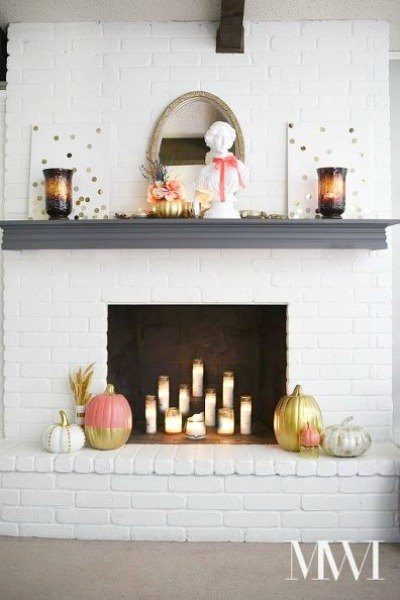 s 13 totally unique ways to dress your home for fall, home decor, seasonal holiday decor, Coral Gilded Glam