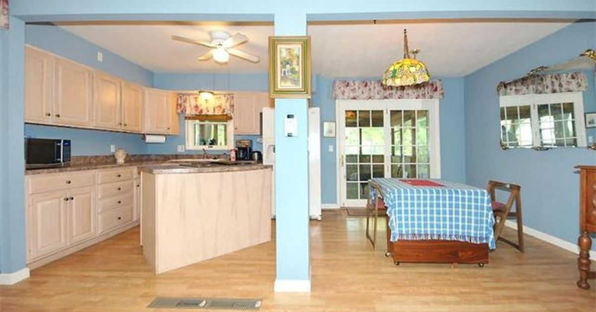Need ideas for paint color for open kitchen dining living room area ...