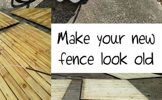 how i weathered fence panels, diy, fences, how to, woodworking projects