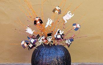 A Fun & Sparkly Budget Halloween Centerpiece