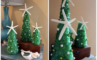 diy sea glass christmas trees, christmas decorations, crafts, seasonal holiday decor ...