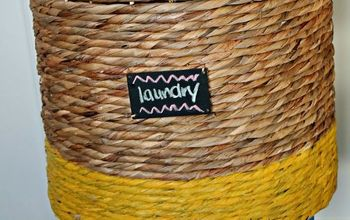 jazz up that wicker basket colour block style, crafts