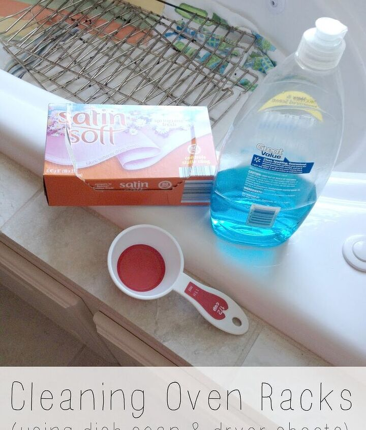 how to clean oven racks in the bathtub, appliances, cleaning tips, how to