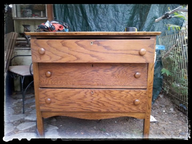 Sk 39 S Copper Patina And Oak Bath Vanity Hometalk