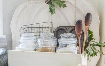 Rustic Pumpkin Stand Becomes Baking Center for Kitchen
