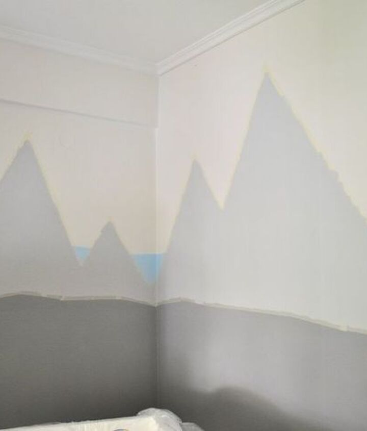 kids room makeover happy mountains happy planes, bedroom ideas, home decor, painting, wall decor