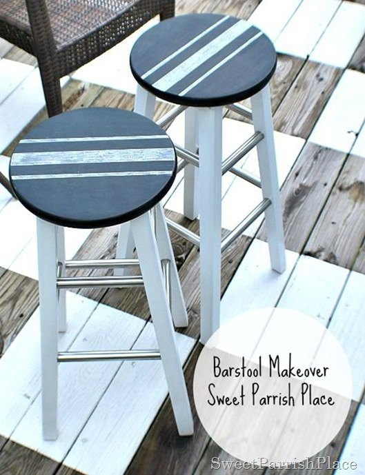 chalboard grainsack barstool makeover, chalkboard paint, painted furniture