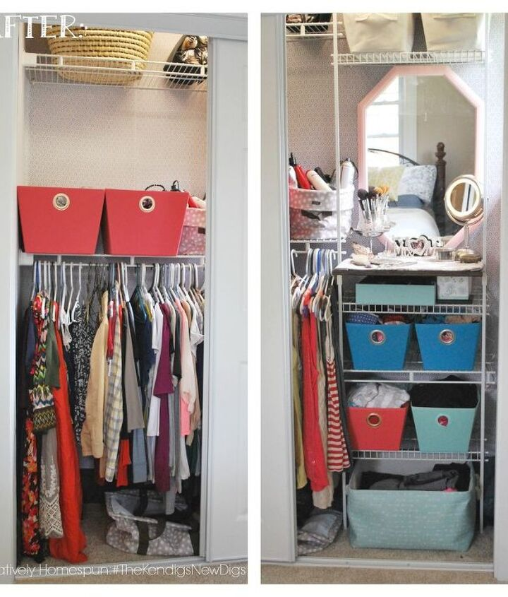 budget friendly bedroom closet overhaul, bedroom ideas, closet, organizing
