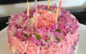 how to create a floral birthday cake, crafts