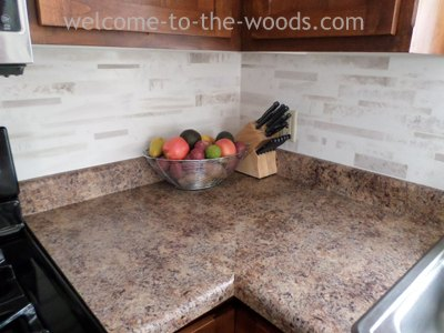Faux Tile Backsplash With Paint Diy Kitchen Design Painting