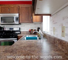 Amazing faux tile backsplash with paint diy kitchen backsplash kitchen design painting