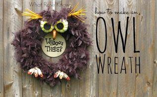 spooky owl wreath for halloween, crafts, halloween decorations, seasonal holiday decor, wreaths, Halloween isn t just for ghosts and goblins