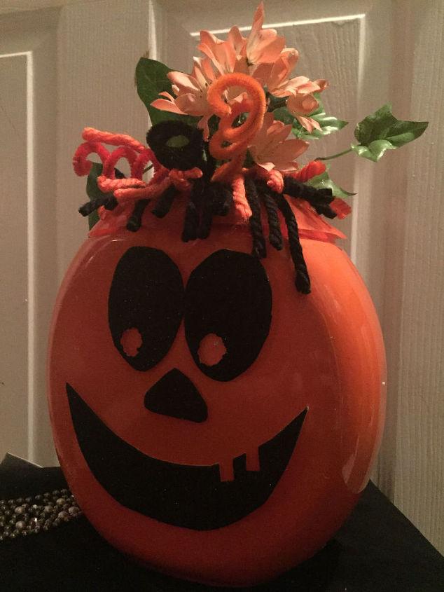 tide pod pumpkins, crafts, halloween decorations