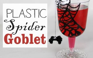 plastic spider goblet, crafts, seasonal holiday decor