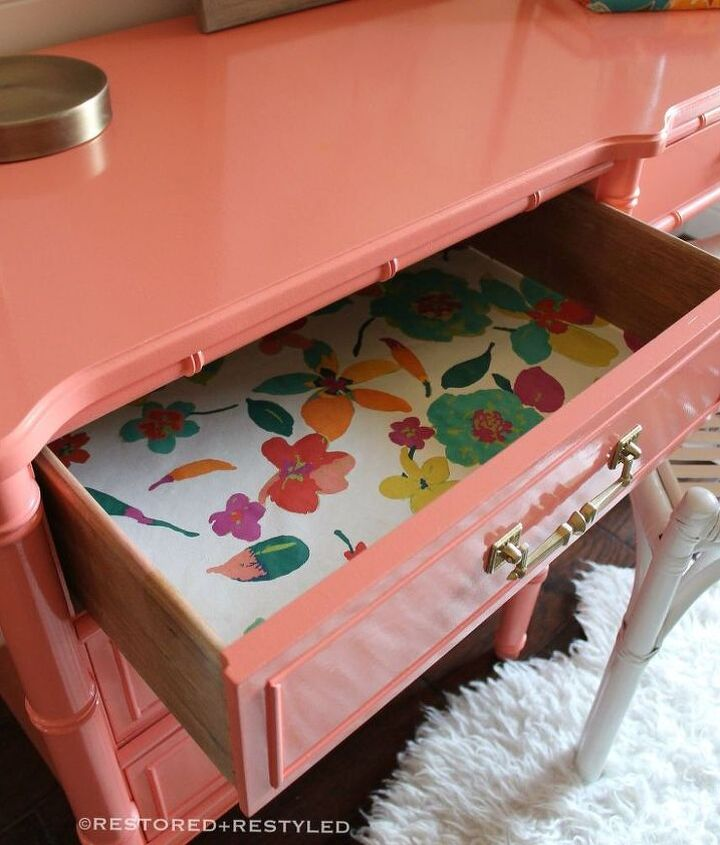 coral cutie, painted furniture