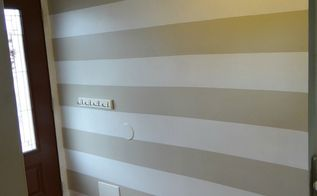 how to cheat painting horizontal stripes, how to, painting, wall decor